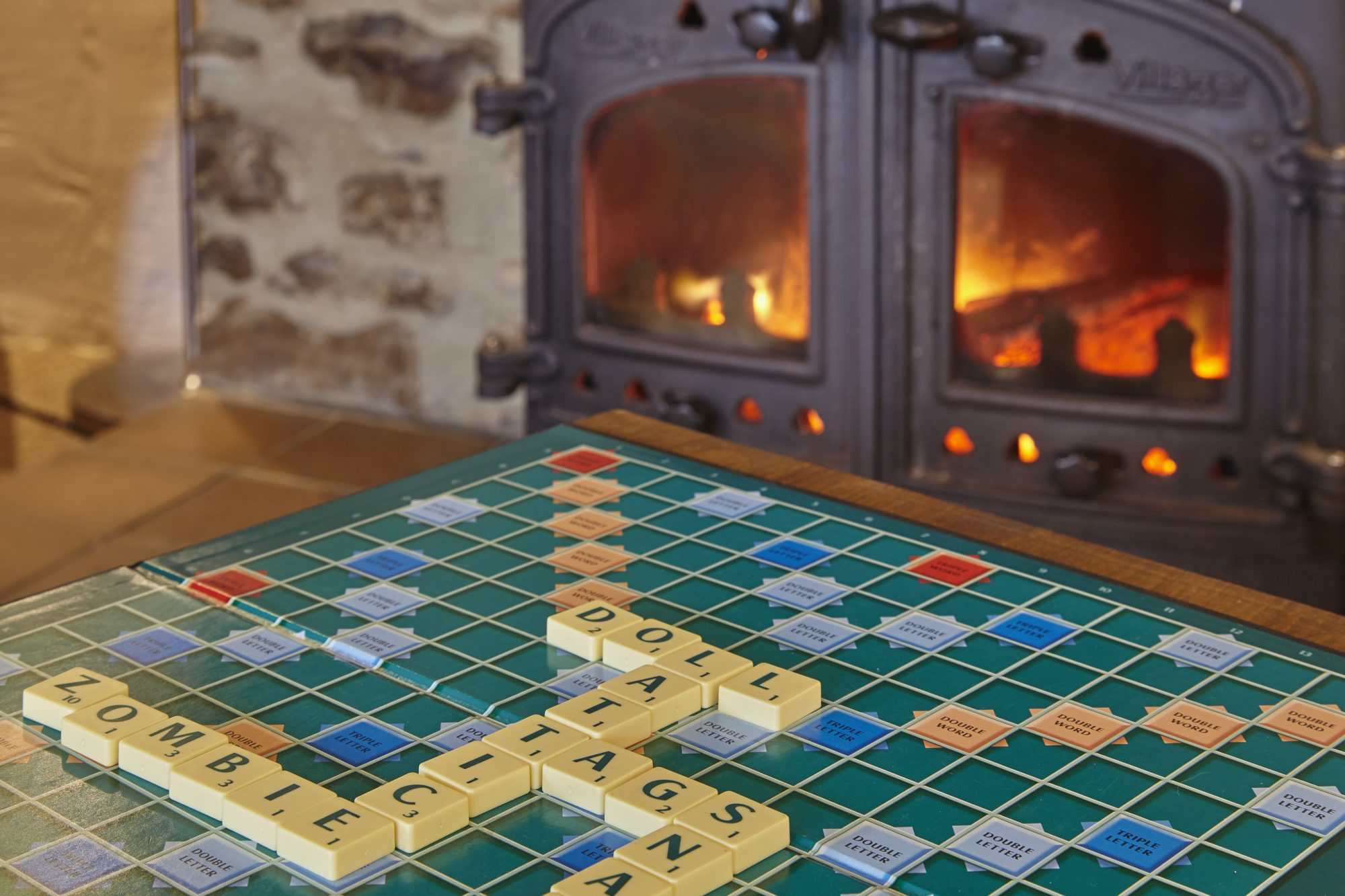 Games in front of the fire
